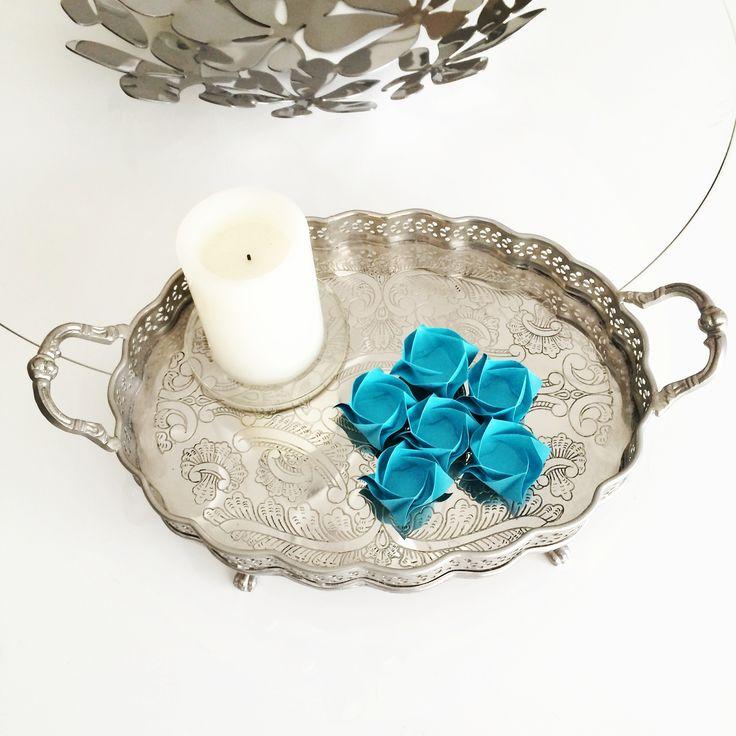 Forminhas Florais. Teste para um batizado. Forminhas para doces em formato floral. Gostou? Então veja como comprar em http://casadeorigami.wordpress.com/produtos/