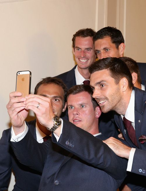 Davis Cup Team Selfie - QF match in Italy
