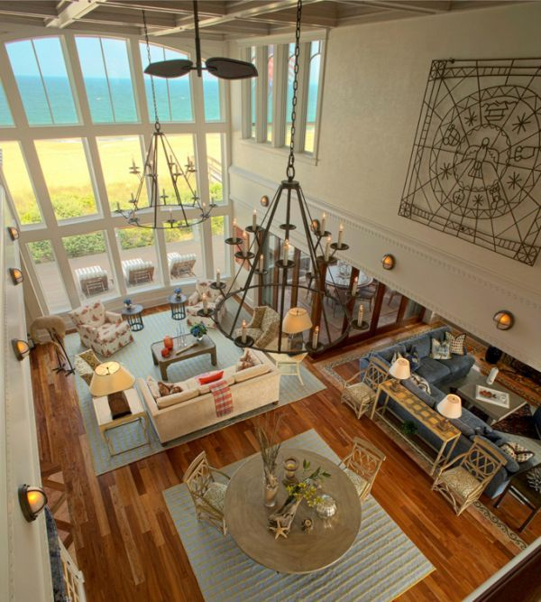 Want this!Beach Home, Contemporary Living Room, Living Rooms, Open Spaces, Livingroom, Beach Houses, Bethany Beach, Open Floors Plans, Ocean View