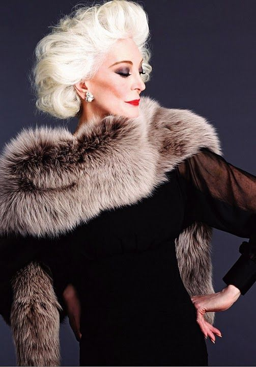 Carmen Dell' Orefice - Longest career and oldest working fashion model since 1947. She's still stunning!
