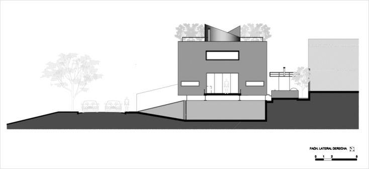 브라질 건축가 Flavio Castro 디자인한 큐브모양의 주택은 구조적인 모습때문에  컨테이너 하우스라고 불립니다.   노락색 스틸빔이 지지하고 있는 콘크리트 구조물은  멋진  외관과 함께 아름다운 실내인테리어가 자랑입니다.  공간활용을 극대화할 수 있도록 큐브모양의 디자인으로 설계된  다층식구조의 주택은 지하에 차..