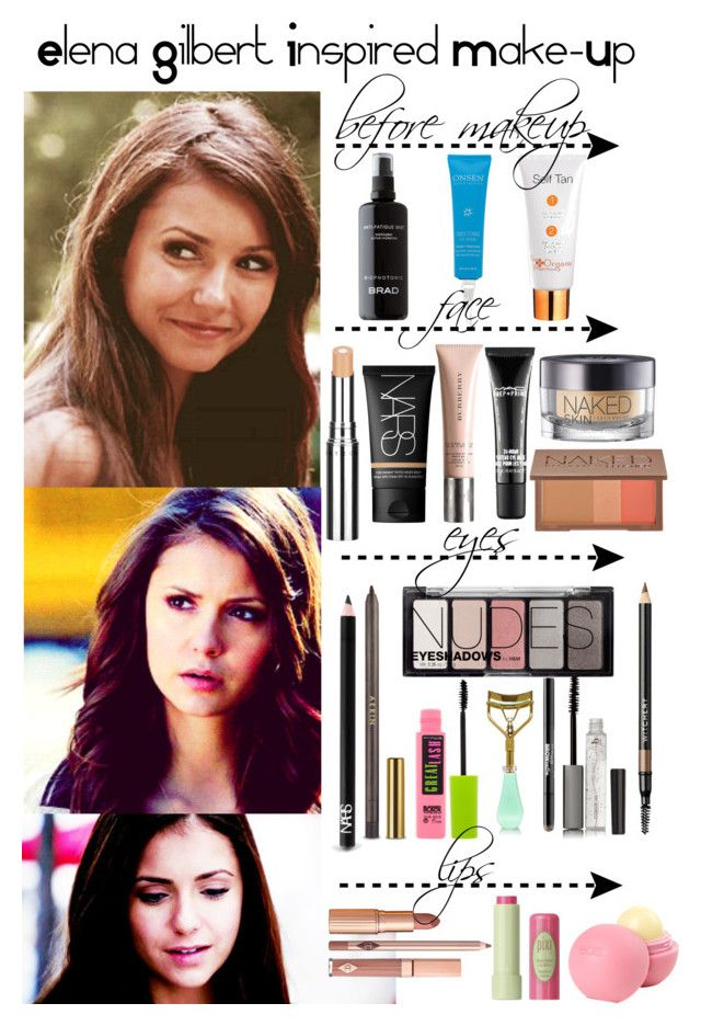 """""""The Vampire Diaries - Elena Gilbert Inspired Make-Up"""" by staystronng ❤ liked on Polyvore"""