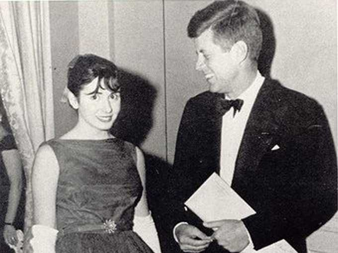 historicaltimes:  Nancy Pelosi with President Kennedy, Circa 62
