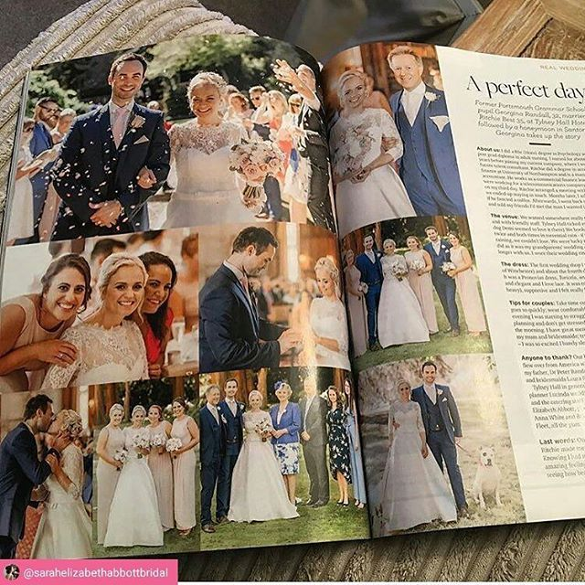 Our beautiful @pronovias bride Georgina is in @hampshirelifemagazine. Photo via @sarahelizabethabbottbridal with @repostsaveapp · · ·   Photo courtesy of beautiful bride @1georgebest featured in this months @hampshirelifemagazine makeup and hair by myself @sarahelizabethabbottbridal photography by @naomi.kenton.photography dress by @pronovias from @bridesofwinchester venue @tylneyhallgardens