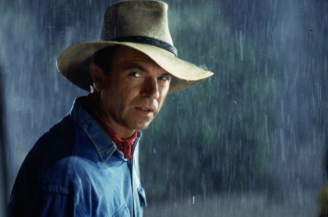 Sam Neill as Dr. Alan Grant, my first celebrity crush. Shows what a nerd I am, a paleontologist catches my eye all those years ago.