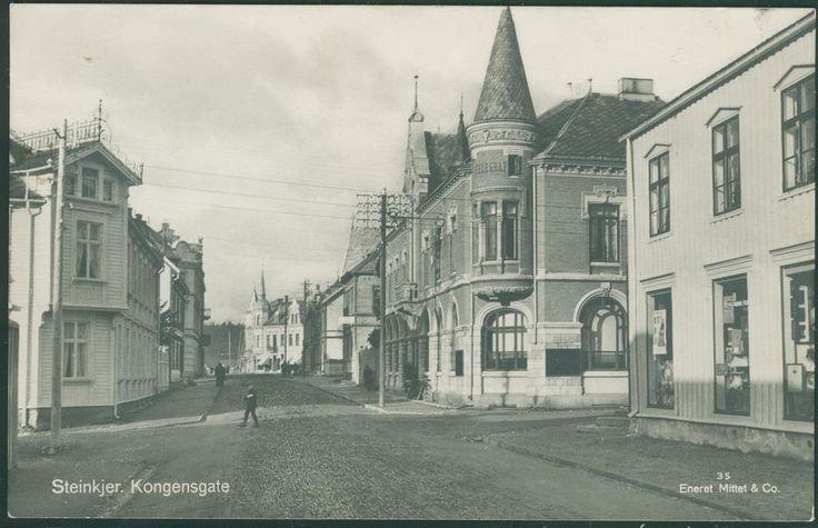 Nord-Trøndelag fylke Steinkjær STEINKJER Kongensgate. Utg Mittet 1935