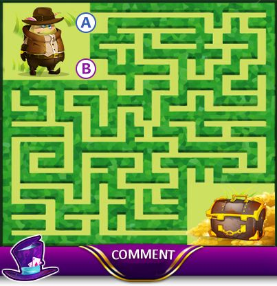Can you help the Adventurer Moji find his way home? Which path will you take A or B? Comment your answer below: