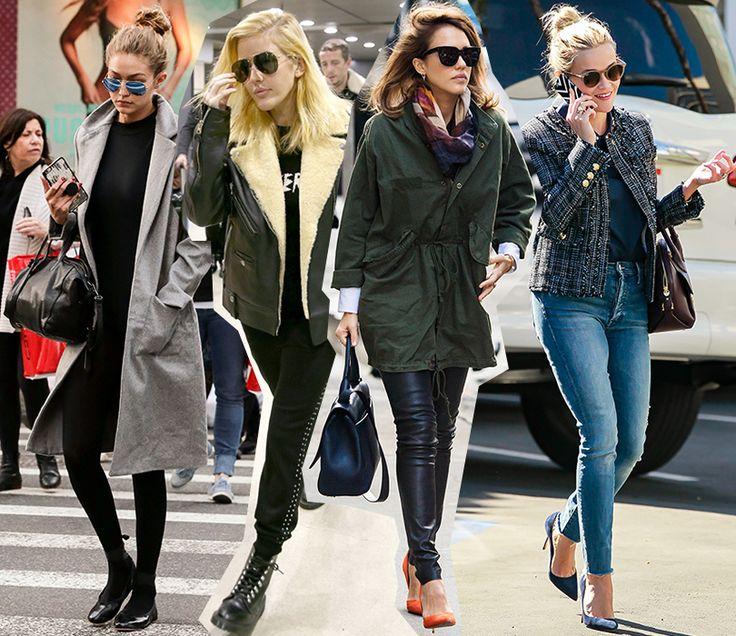 Осенние образы знаменитостей - Fresh - Свежий взгляд на стиль Джиджи Хадид, Элли Голдинг, Джессика Альба и Риз Уизерспун