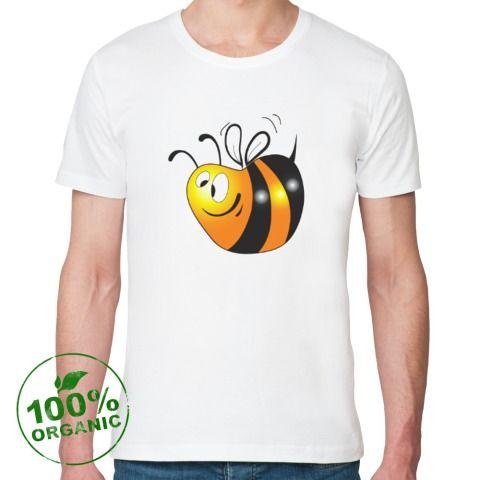 Футболка из органик-хлопка Толстая пчелка - Простые картинки