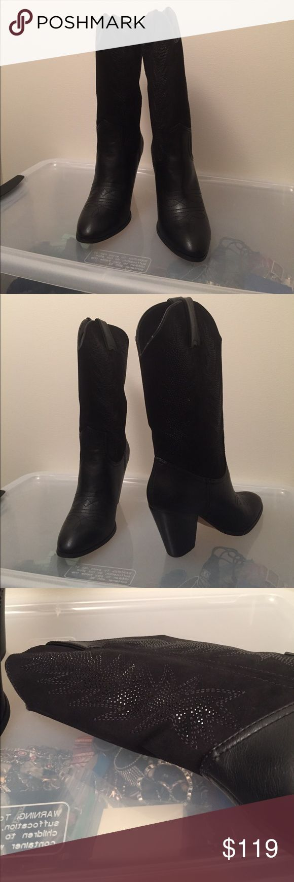 Miranda Lambert's black boots New with box even though they were tried on twice and still didn't feel comfortable on my long narrow feet 😒 Miranda by Miranda Lambert Shoes Heeled Boots