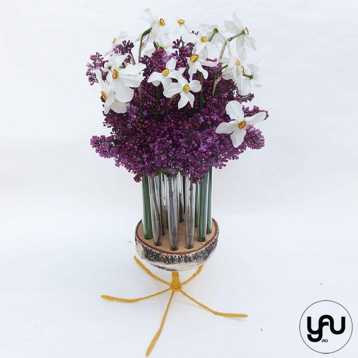Aranjament floral LILIAC si NARCISE   YaU Concept BLOG