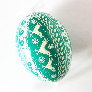Pisanki - egg decorated by wax  by polish, folk artist.