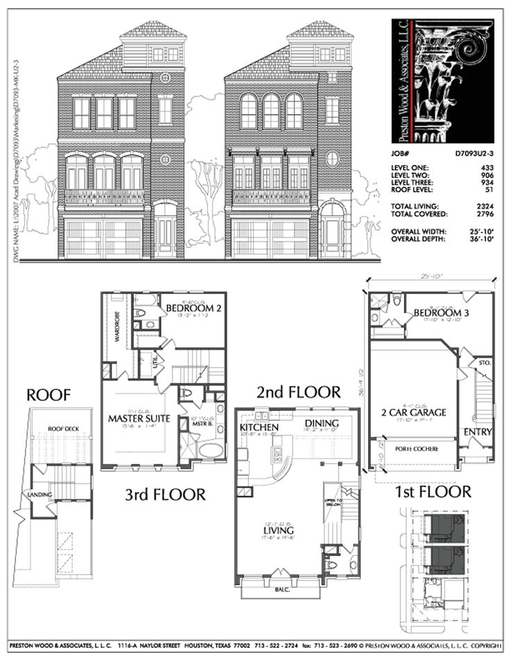 26 best townhouses images on pinterest floor plans for Two story townhouse plans