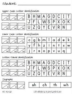 Letter-Sound Assessment. I like the format and can see using it for other things.