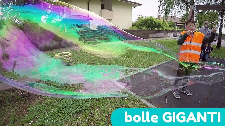 come fare bolle di sapone GIGANTI! #bubble #goprooftheday