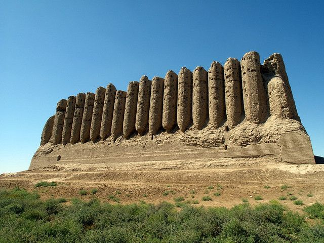 TURKMENISTAN - Ancient Merv - The oldest and best preserved of the oasis cities along the Silk Route in Central Asia. Dates to 600 BCE - 1400 CE.