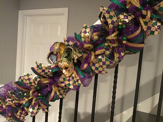 Mardi gras Mardi gras Wreaths Fleur de lis wreath Garland Mardi Gras Garland Mardi Gras Garlands Mardi gras wreath