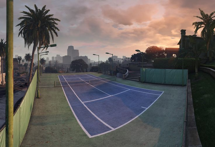 Rockford Drive, Private Tennis Court – High Res Pano