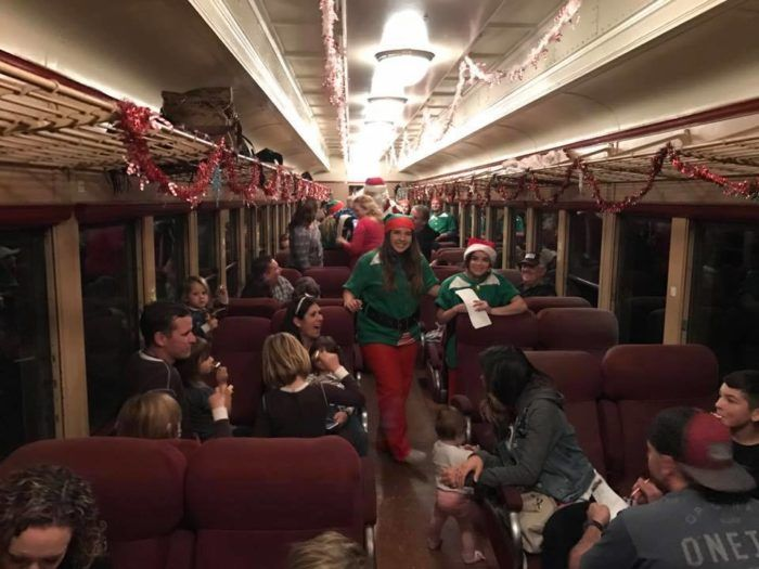 Hop aboard the North Pole Express on the Fillmore & Western railway in Southern California for a fun-filled, holiday-themed train ride.