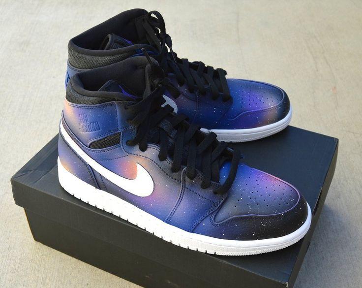 Custom Nike Jordan AJ 1 Retro Sneakers - Galaxy
