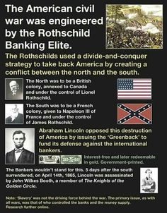 More variations on the Jewish Conspiracy/Rothschild World Domination.A USA version of the Nazi trope.
