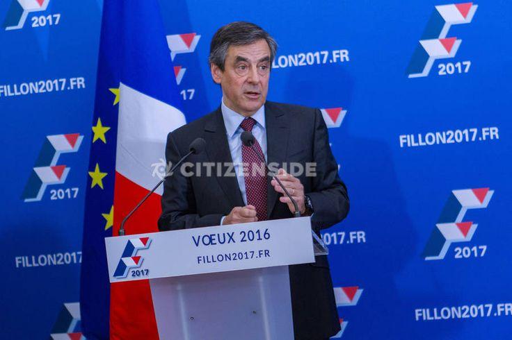 Paris : François Fillon présente ses voeux à la presse - Politique - via Citizenside France. Copyright : Christophe BONNET - Agence73Bis