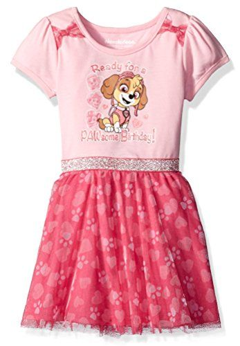 Nickelodeon Girls' Paw Patrol Birthday Dress - http://www.darrenblogs.com/2017/02/nickelodeon-girls-paw-patrol-birthday-dress/