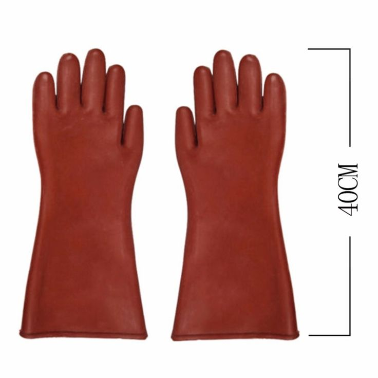 Insulated 12kv High Voltage Electrical Insulating Gloves For Electricians #CLICK! #clothing, #shoes, #jewelry, #women, #men, #hats