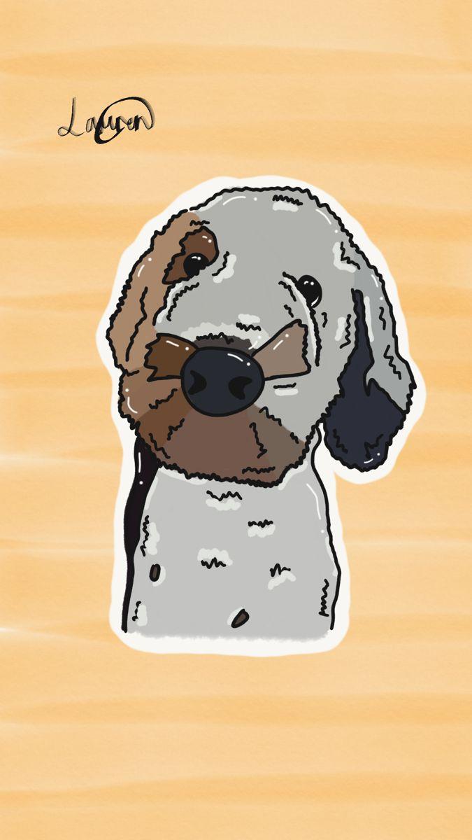 Digital Dog Drawing Menggambar Anjing