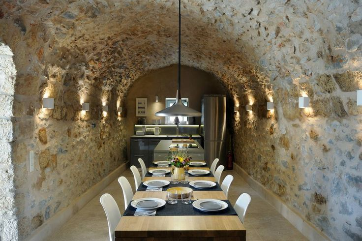 The #kitchen – with stone arched ceiling - located on the ground floor, is fully equipped featuring an impressive 8m long dining area, perfect for family #dinners