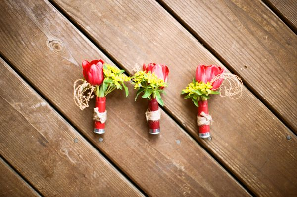 Southern wedding - southern boutonnieres