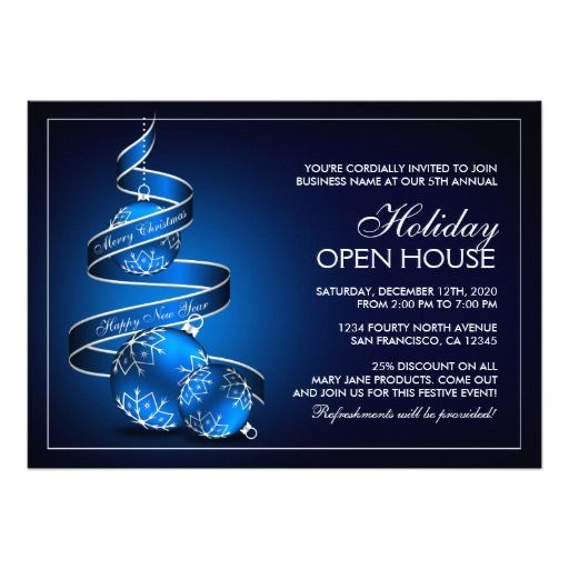44 best Holiday Open House Invitations images on Pinterest Open - open house templates