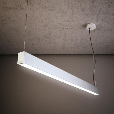 L1/L2/L5 - LAD Darkon LED continuous surface mounted profile. Located in offices, WC, kitchenette, store room
