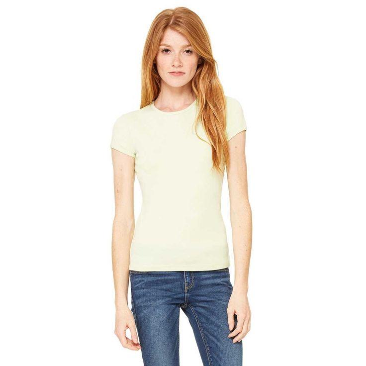 Bella + Canvas Women's Lime Wedge Stretch Rib Short-Sleeve T-Shirt