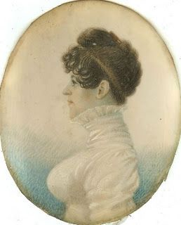 ca.1807 John Wesley Jarvis - portrait of a lady Actually not 'bad', but highly interesting hair! Go to the linked website for a close up, please!!!
