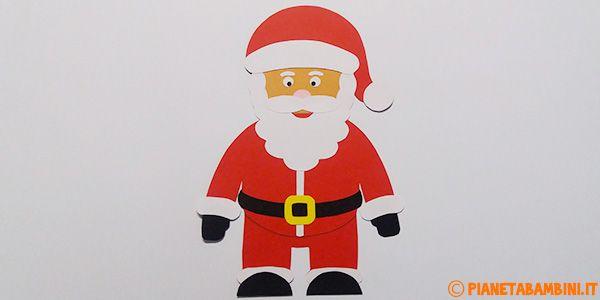 Lavoretto Babbo Natale di cartoncino