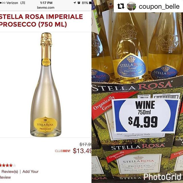 Stella Rosa Prosecco spotted by @coupon_belle at #the99!   Stella Rosa sighting at the @99centsonly store! 🍷🥂