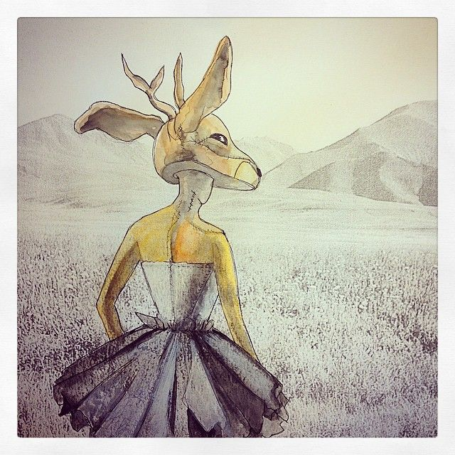 Deer Hike Tutu Girl Norway Mountains Illustration Where´s my Tipi Photo Black and White Mixed Buy your A3 quality print from my etsyshop. Use link: https://www.etsy.com/no-en/shop/Rampestreken Or visit me at https://www.facebook.com/Rampestreken and order through inbox. Painting, drawing and photgraph by Ragnhild Marie Aston Hoddevik. Feel free to make requests, I also make orders:)