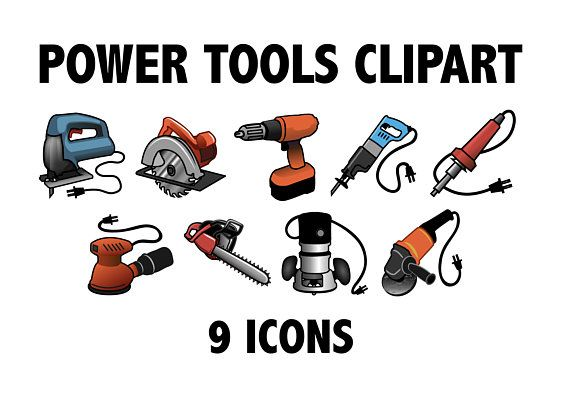 Power Tools Clipart Construction Equipment Carpenter Builder Saw Drill Tool Jigsaw Circular Saw Soldering Iron Sawzall Work Dremel Tool Power Tools Clip Art