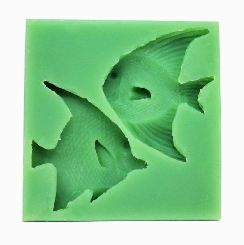 Longzang 2 Fishes Fondant and Gum Paste Mold Silicone Clay Molds Jewelry Molds Cake Decoration Supplies Candy Mold >> Wow! I love this. Check it out now! : bakeware