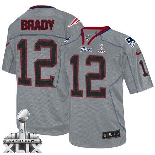 8e0845e64 ... Jersey YOUTH LARGE 14-16 Reebok NFL Boys Discount NFL New England  Patriots Tom Brady Youth Limited Lights Blue 12 Super Bowl XLIX ...