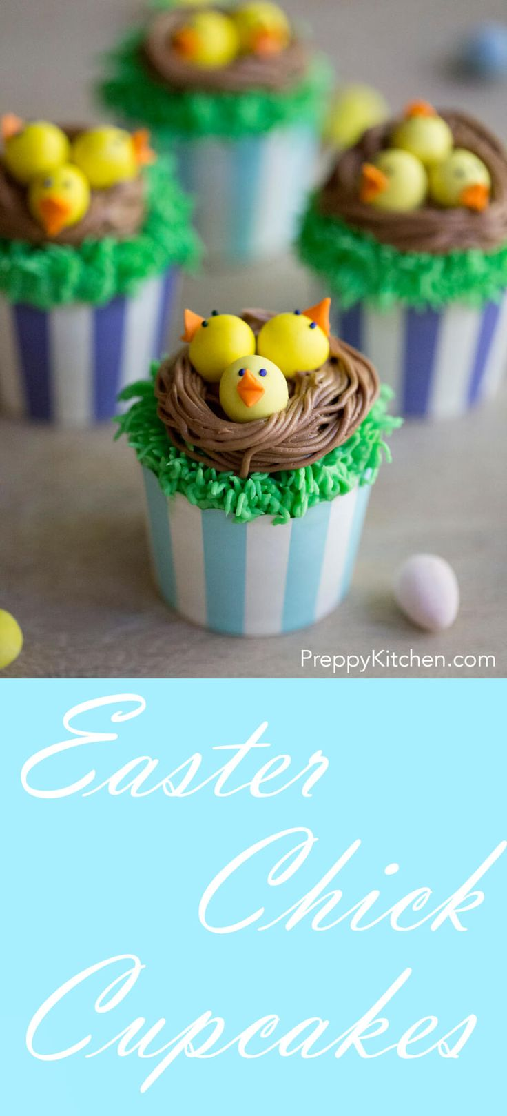 Easter Chick Cupcakes via @preppykitchen