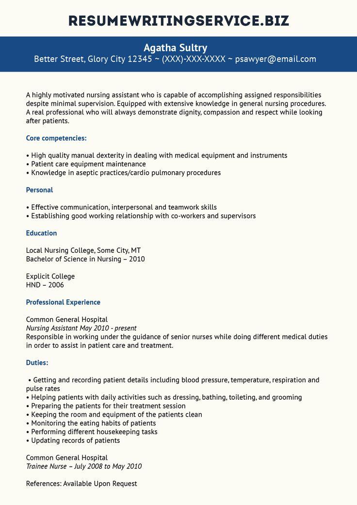 Nursing Assistant Resume... Nursing assistant, Nursing