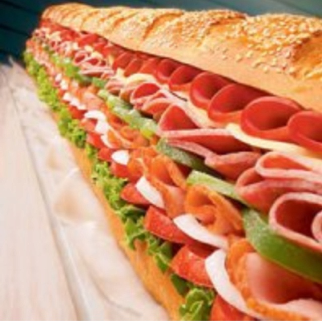 Giant Party Submarine Sandwich - how funny is this pic?
