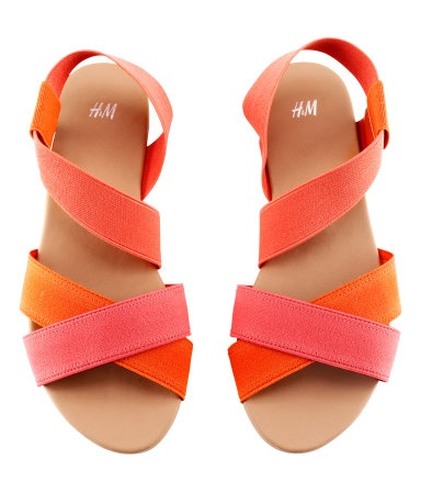 Darn, no longer available.: Colors Combos, Summer Sandals, Fashion Shoes, Strappy Sandals, Summer Shoes, Colors Combinations, Fashion Pink And Orange, Flats Sandals, Orange Pink