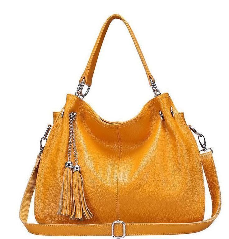 2017 Soft leather Shopping bag Women Genuine leather handbag top quality big tote Female Purses Shoulder bags