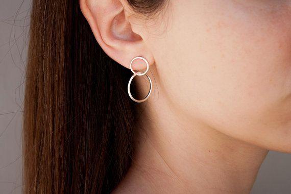 Geometric Earrings Modern Earrings Stylish Earrings Oversized Hoops Open Circle Earrings Punk Earrings Boho Earrings Casual Earrings