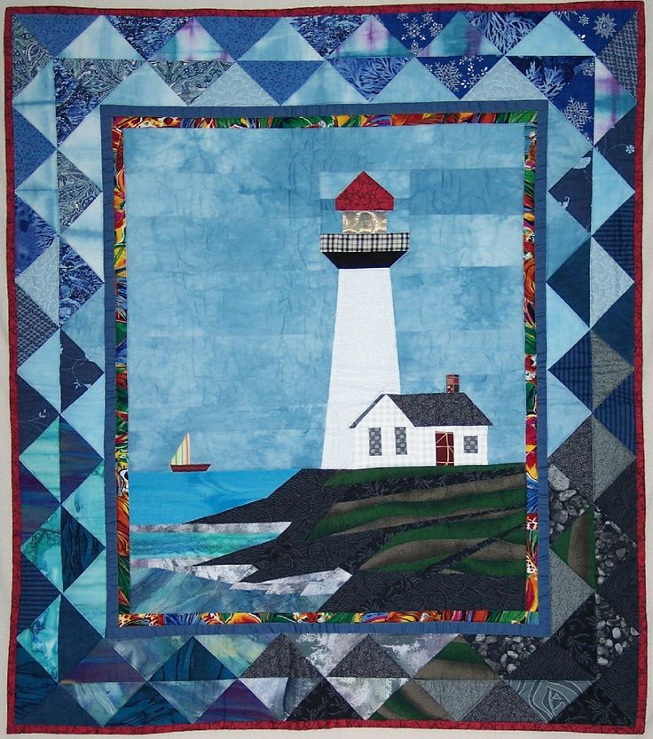 Free Lighthouse Quilt Block Patterns : Freezer paper piecing! Quilt Pattern: Pigeon Point Lighthouse on The CraftStar @TheCraftStar # ...
