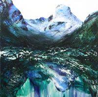 Deep Point (2006)  oil & acrylic on canvas  stretcher: 1525 x 1525 mm