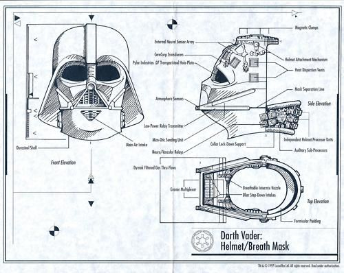Just got this awesome Darth Vader helmet. These are the blue prints tht came with it.